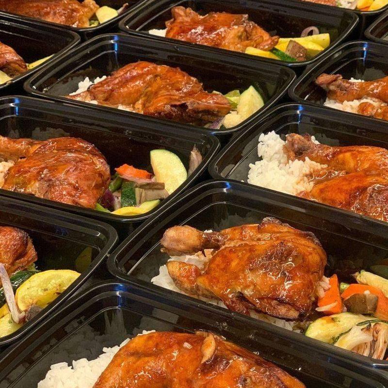 BBQ Chicken Leg Quarter Box Lunch