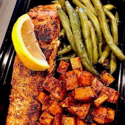 Blackened Salmon Box Lunch