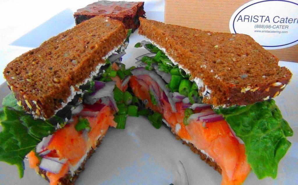 Smoked Salmon Sandwich Box