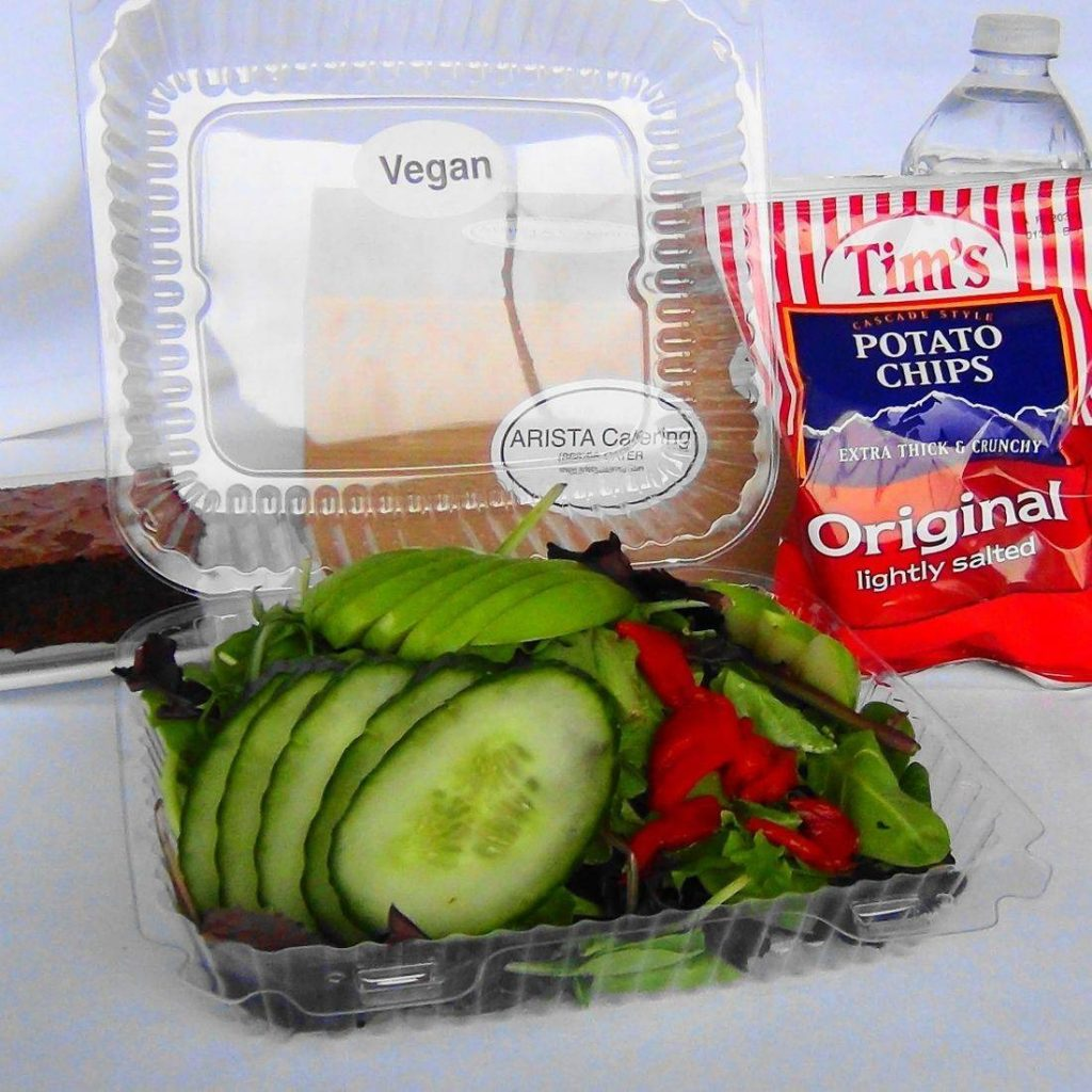 Vegan Green Apple Mixed Green Salad Box Lunch