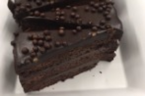 Chocolate Raspberry Crisp Cake
