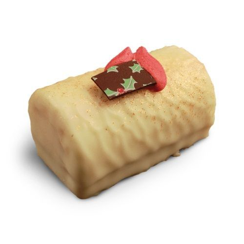White Chocolate and Cranberry Yule Log
